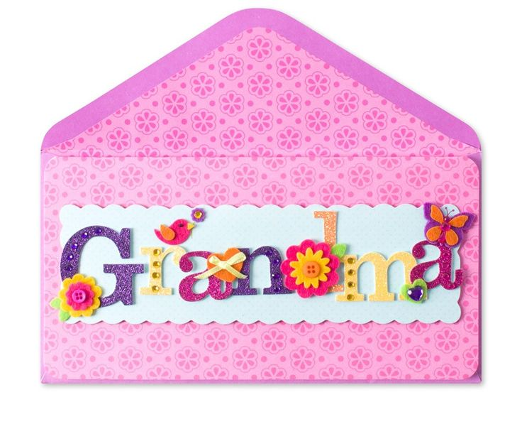 Grandma Lettering (For Grandma)~ Papyrus Cards at Gifts On The Go