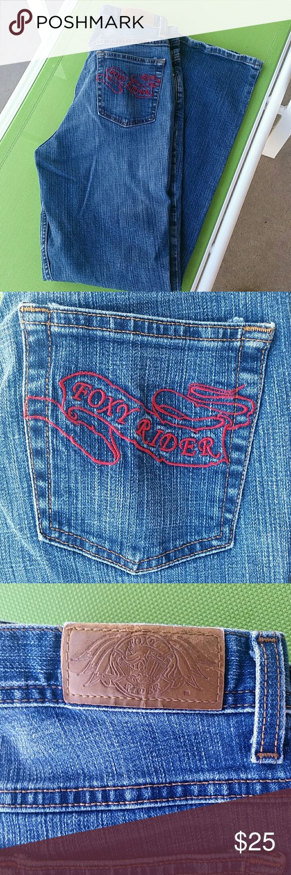FOXY RIDER JEANS, HARDLY WORN. Foxy Rider jeans, gently worn. Excellent condition. Foxy Rider  Jeans Boot Cut