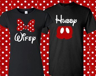 Red Polka Dot Set Wife Hubby Mickey and Minnie Wedding Couples Engaged Gift Newlyweds Shirts Vacation Attire Disney World Disneyland - short sleeve plaid shirts, cool button down shirts, mens green denim shirt *sponsored https://www.pinterest.com/shirts_shirt/ https://www.pinterest.com/explore/shirts/ https://www.pinterest.com/shirts_shirt/cool-shirts/ https://www.customink.com/products/categories/t-shirts/4