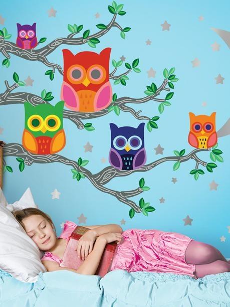 Night news 2 owl wall decals cuarto ni as pinterest for Cuartos de ninas feos