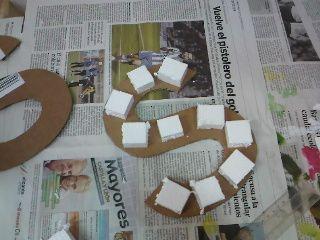 Crea vintage c mo hacer letras de cart n para decorar - Como hacer letras decorativas ...