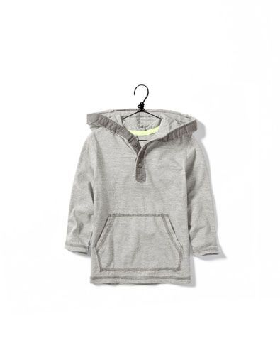 b4082c0ee hooded T-shirt - Collection - Baby boy (3-36 months) - Kids - ZARA ...