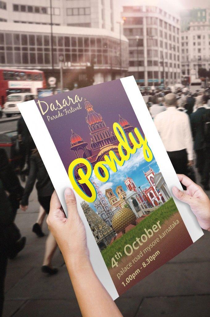 Graphics Designs:  Pondy Tourism Road Show Flyer