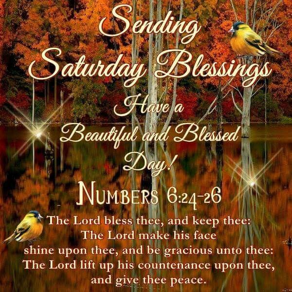 Sending Saturday Blessings