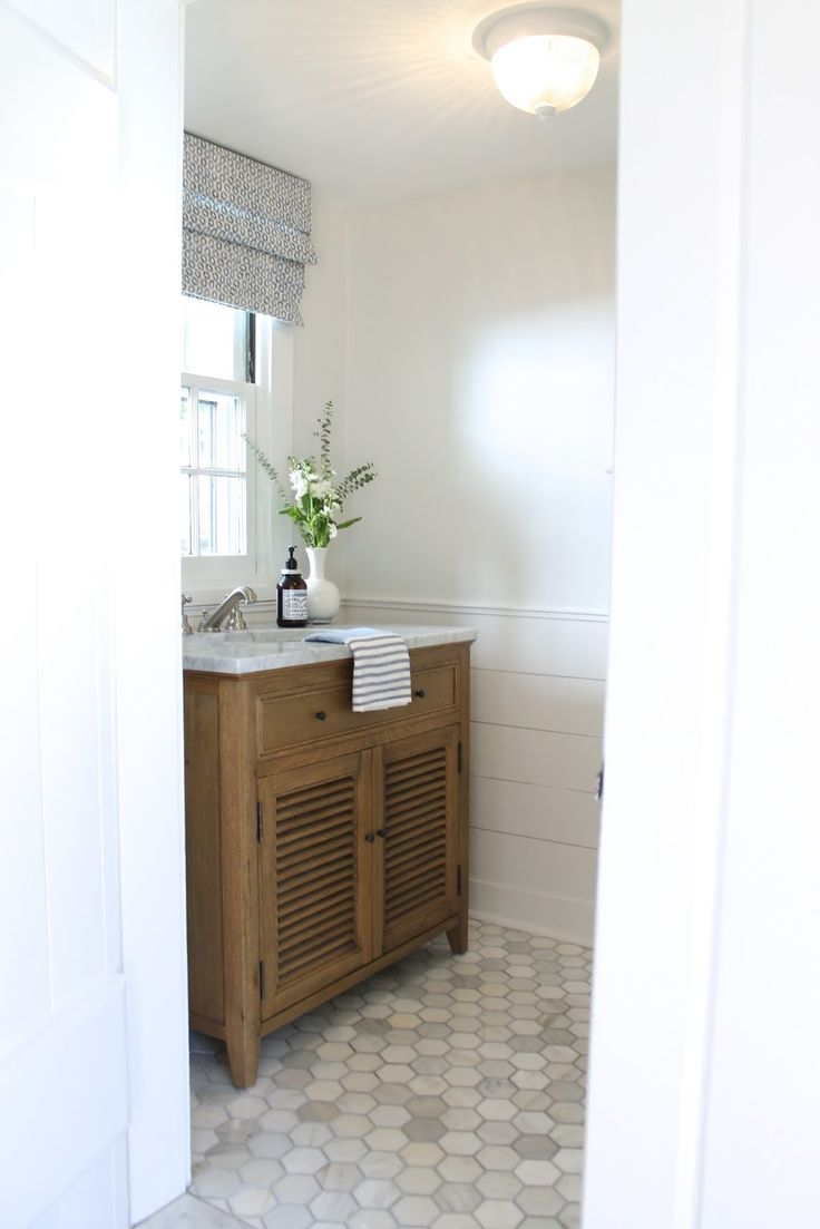 The Picket Fence Projects The Powder Room Pretty Much