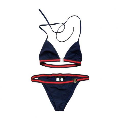 Maillot de bain deux-pièces GUCCI 34 (XS, T0) bleu - 5246301