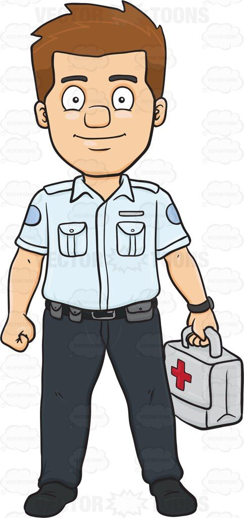 A Happy Male Ambulance Worker Carrying A First Aid Kit #911 #adult #adultmale #ambulance #civilian #emergency #emergencyworker #firstaid #full-grown #fullygrown #gentleman #grown #grownup #human #humanbeing #individual #job #kit #line #lineofwork #male #maleperson #man #mature #medicalkit #mortal #occupation #paid #person #pro #professional #professionalperson #redcross #skilledworker #skilledworkman #somebody #someone #trainedworker #watch #whitecollar #work #vector #clipart #stock