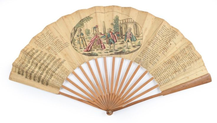 1785 'Marriage of Figaro' scenes from the play decorate the fan
