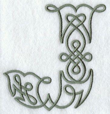 Celtic Knotwork Letter J - 5 Inch