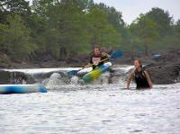 Class II Kayaking in Broken Bow, Oklahoma. - Presbyterian Falls