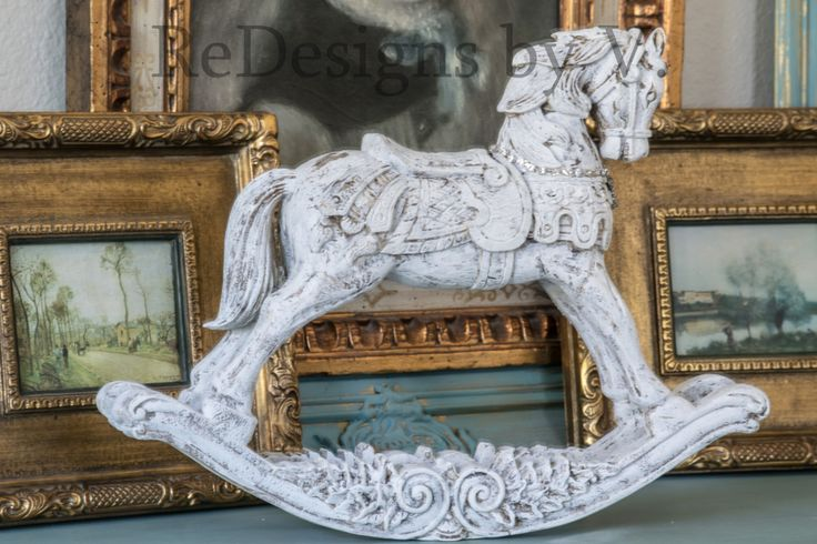 Antique French Nodic Rocking horse statue large Embellished, Distressed. by ReDesignsbyV on Etsy