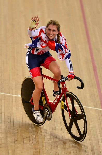 Laura Trott Photos - Laura Trott of Great Britain celebrates after winning the Women's Omnium during Day Five of the UCI Track Cycling World…