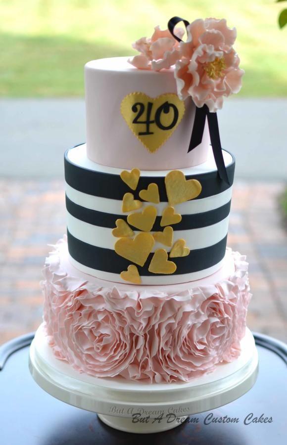 40th Birthday Cake Cake By Elisabeth Palatiello Cake