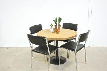 funkis artdeco møbler | Runt köksbord med trumpetfot