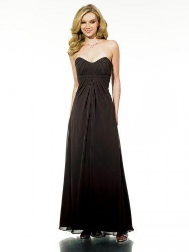 Chiffon Sweetheart Floor-Length A-line Bridesmaid Dress