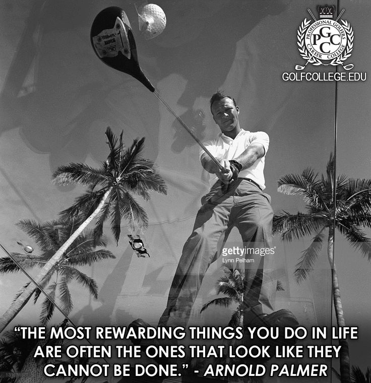 As you embark on this journey of following your passion towards a career in the golf industry, keep in mind these words from the King Arnold Palmer. #WisdomWednesday #WednesdayWisdom #GolfTip #Golf #ArnoldPalmer #GolfLegends