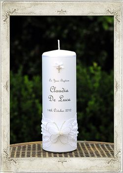 Butterfly Dream Baptism Candle