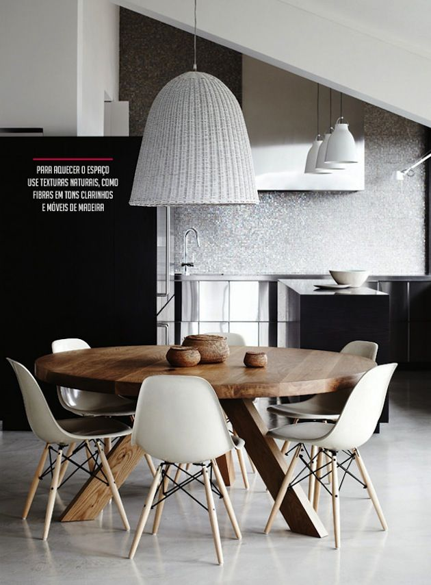 Wooden Round Table on the Interior Collective