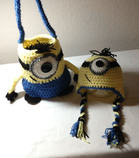 Crochet minion tote minion bag minion purse by CrochetbyDestinee