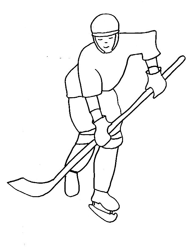 Coloriages hockey sur glace