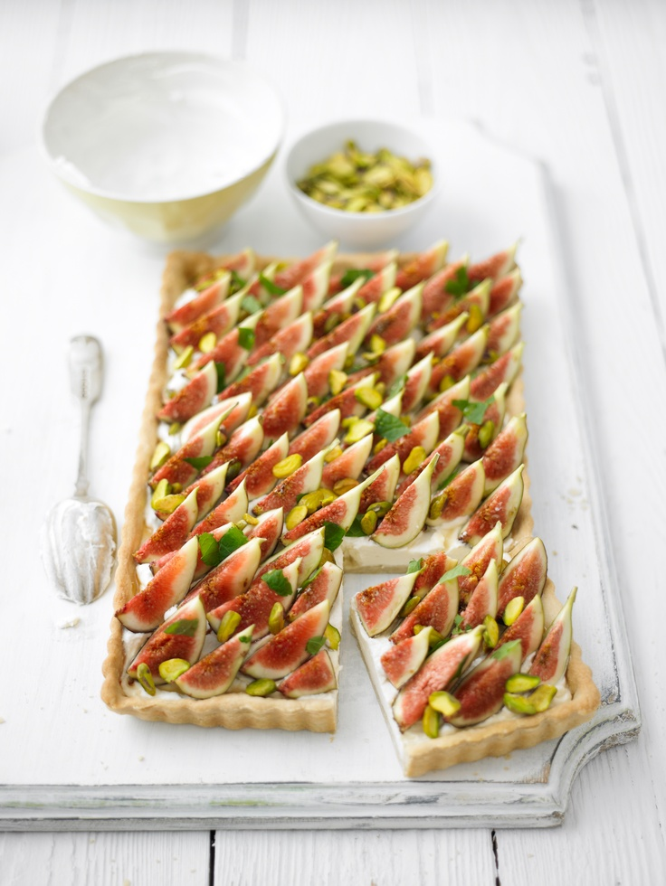 Beautiful-Fig, Cream Cheese and Mint Tart | Lorraine Pascale