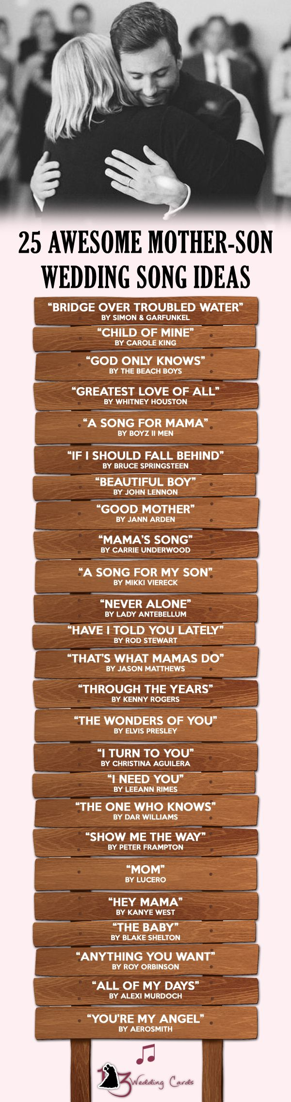 If you want to make your mother feel super special on your wedding then here is a list of 25 awesome mother son wedding songs that will make your mother go 'awe' with admiration.