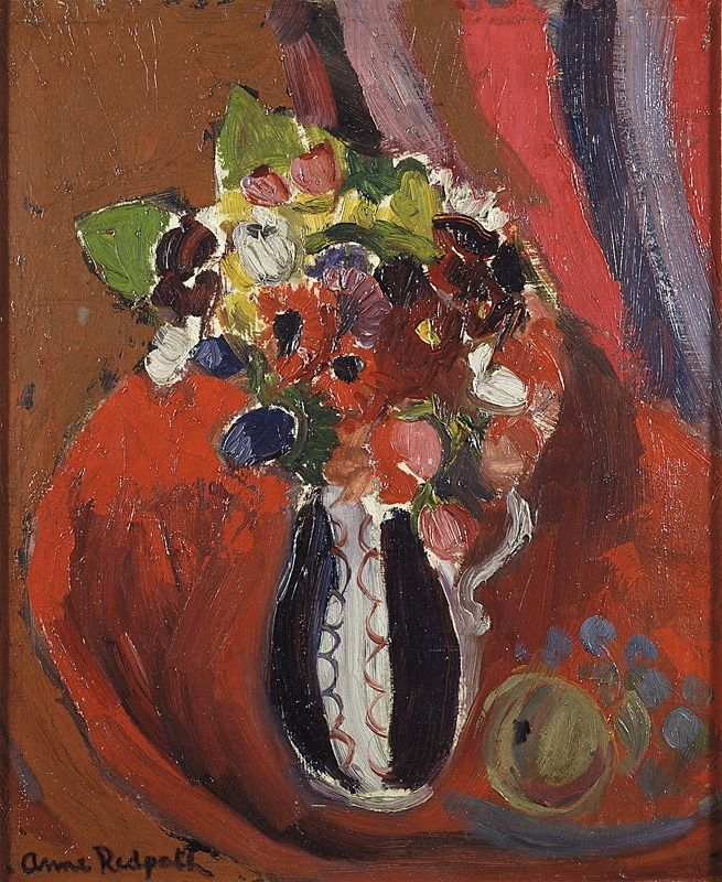 ❀ Blooming Brushwork ❀ - garden and still life flower paintings - Anne Redpath | Still Life on a Table