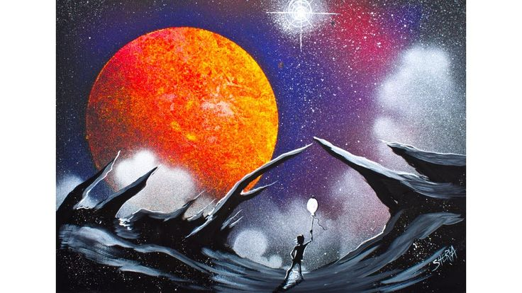 909 best images about painting lessons on pinterest for Space art tutorial