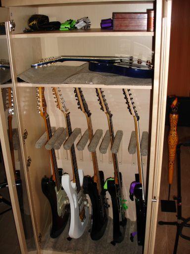 Armario para guitarras DIY   MI LLÅVË ÅLLËN