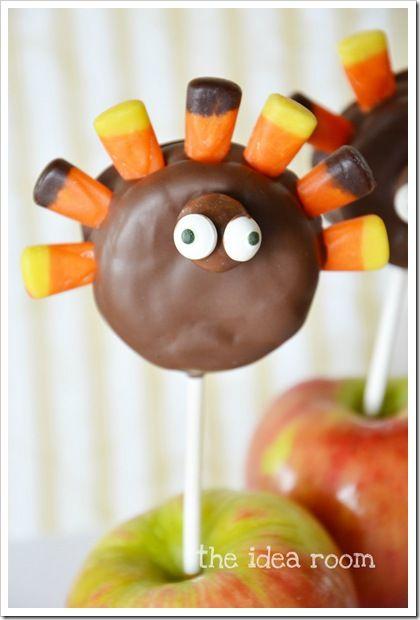 Turkey pops!  Made from Oreos