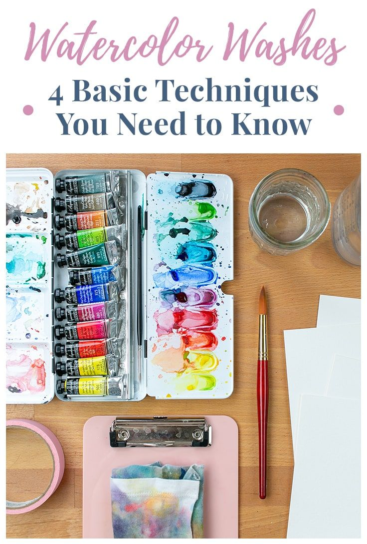 Watercolor Washes 4 Basic Techniques You Need To Know