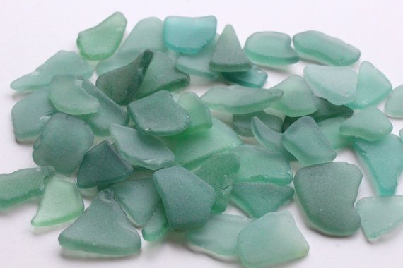 Dark Mint Sea Glass Beach Glass Bulk Sea by BalticBeachTreasures