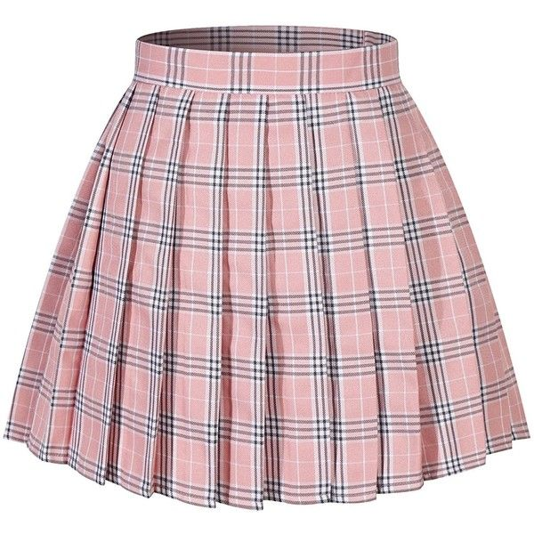 6d9a9f8dce27aa Amazon.com: Women`s Pleated Over knee Short Sexy Skirts (L,Pink ...