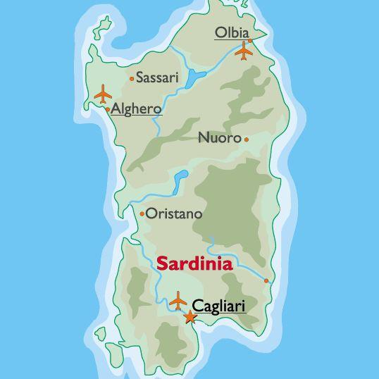 sardinia airports: olbia, cagliari and alghero