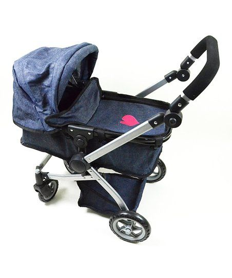 The New York Doll Collection Denim Stroller for 18 Doll | zulily
