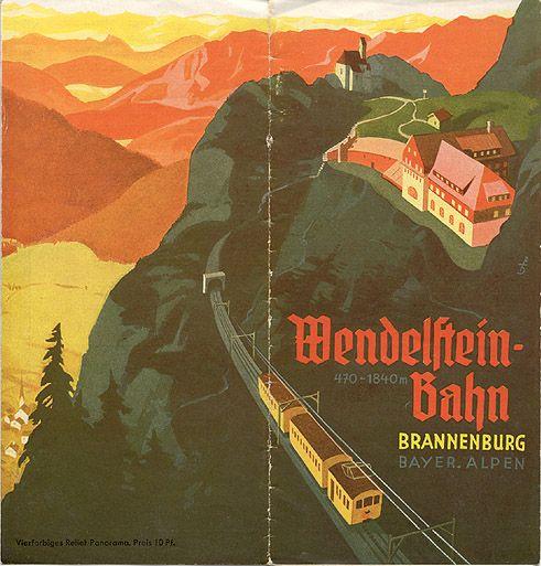 GERMANY - Travel brochure Wendelstein-Bahn, Brannenburg, Bayern Alpen, 1937.