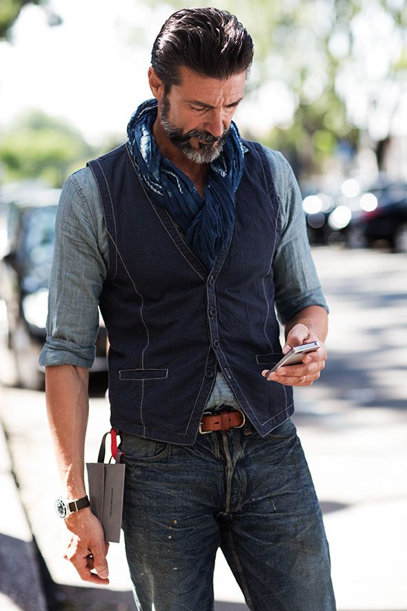 : Denim Jeans, Fashion Style, Men Style, Street Style, Manstyle, Denim Vest, Men Fashion, The Sartorialist, Man Style