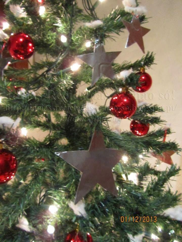Estrelas. Decoração de Natal. Reciclagem. Com Passo a Passo.