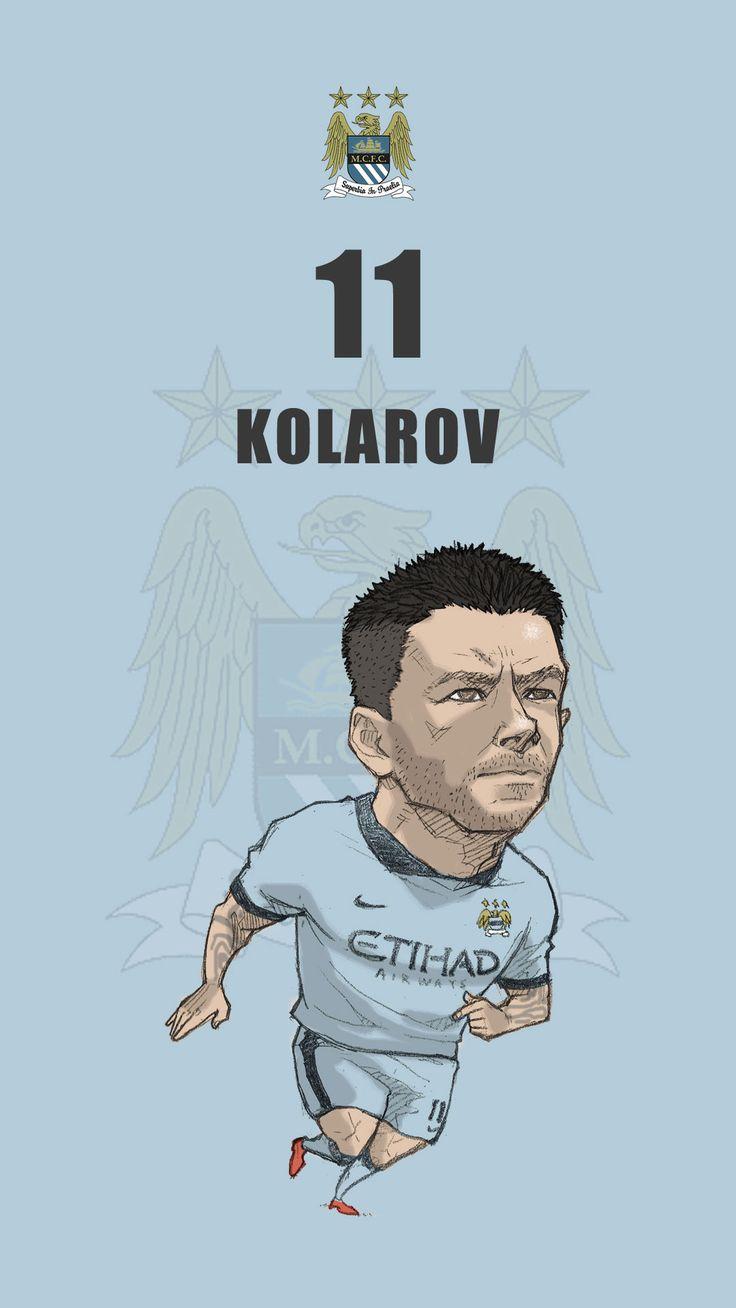 """Manchester city fan art for mobile wallpaper """"Alexandar Kolarov"""""""