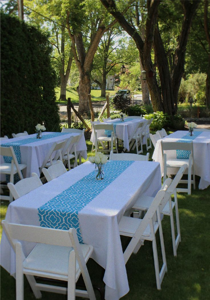 605 best graduation party images on pinterest birthdays for Outdoor brunch decorating ideas