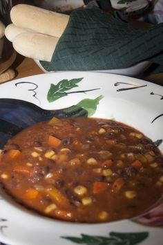 Fresh Vegetable Soup  --  Weight Watchers Zero Point Soup   ......   #fresh #healthy #vegetablesoup ...... Black Bean and Vegetable Soup