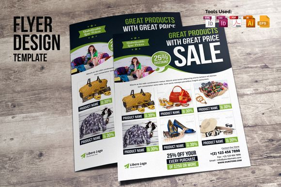 Product Promotion Flyer Design v2 by Miyaji75 on @creativemarket