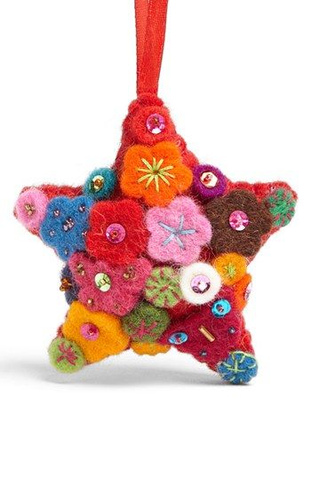 Shiraleah Felt Star Ornament available at #Nordstrom