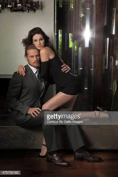 Sam Heughan and Caitriona Balfe at the Emmy photoshoot.