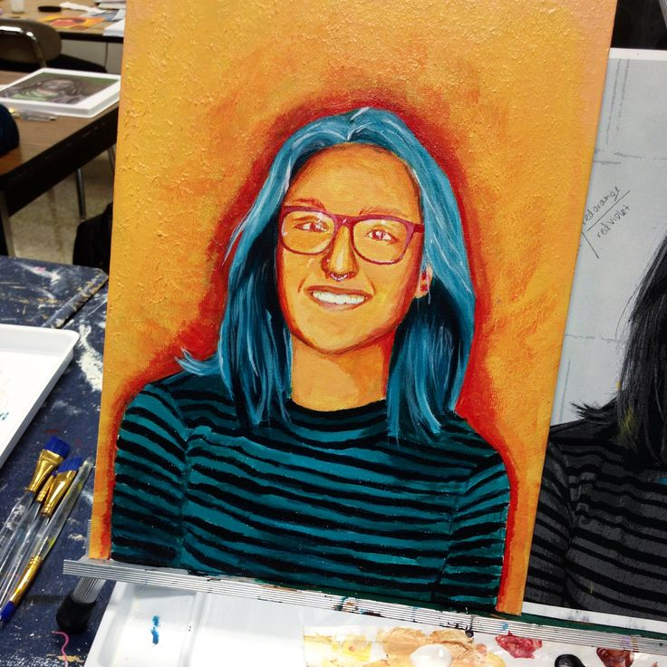 Self Portrait Made With A Split Complementary Color Scheme
