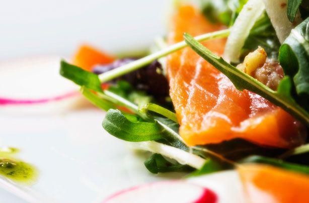 Salmon salad with herb vinaigrette | Recipe