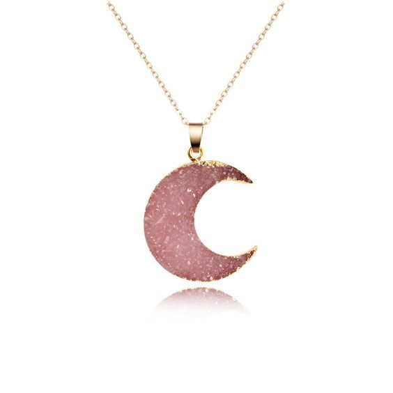 collier luna rosa
