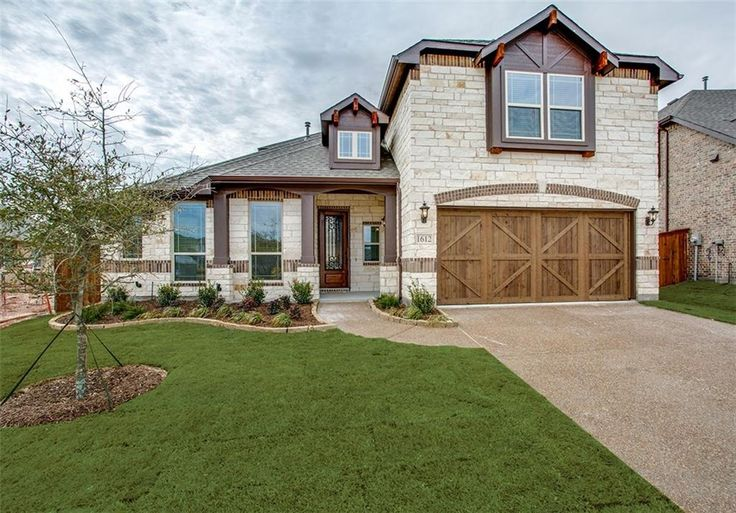 1612 Ellis Lane - Aubrey TX, 76227. STUNNING BLOOMFIELD HOME READY FOR SPRING 2018 MOVE-IN! Four bedrooms, 3 bathrooms, 2.5 car garage; rotunda entry; wood look tile & upgraded carpet throughout; Deluxe kitchen with stainless steel appliances, CUSTOM CABINETS, granite counters and custom backsplash; family room; master suite with granite counters, dual sinks, over sized shower, linen closet and walk-in closet; study; game room; 2 inch faux blinds; window seats; extended covered patio; ful...