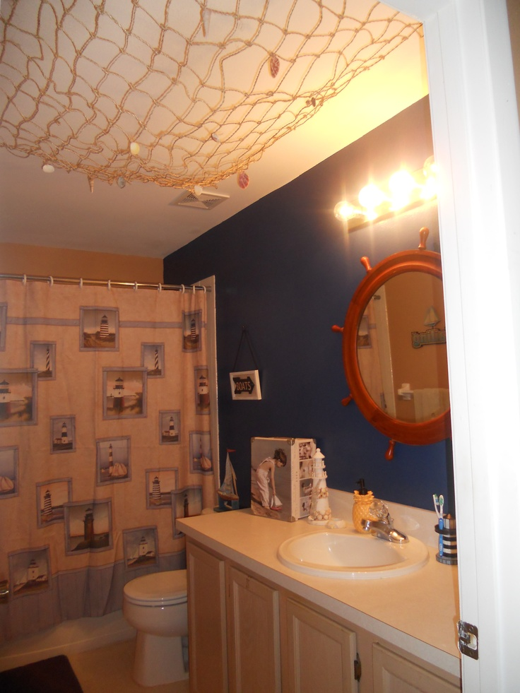 Finally our nautical bathroom is finished im in love for Nautical bathroom design ideas