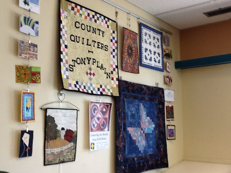 County Quilters library display 2014